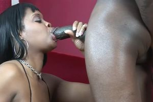 Fatty dark-hued gulps after harsh hookup