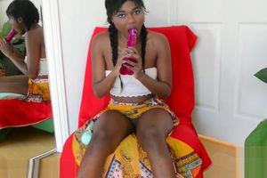 Yara Skye uses some playthings on her..