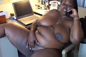 Mature dark-hued Plus-size enjoys to..