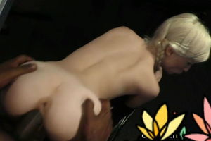 Small milky bitch pounded by ebony bull