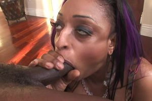 Big  ebony tart Carmen experiences on..