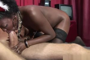 Dark-hued call girl pulverized and..