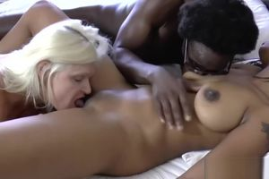 Grandmother joins as black stud humps..