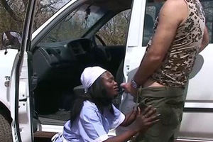 ultra-kinky african jeep bang-out safari