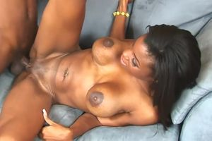 Huge-titted chocolate beauty..