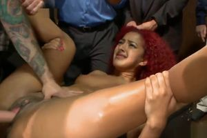Red-haired dark-hued is  public humped