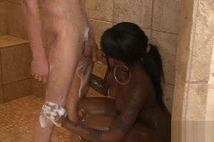 Lush black female luving a sensuous..